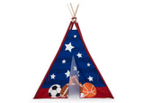 Delta Children All-Star Sports Teepee Play Tent for Kids, Front Silo View
