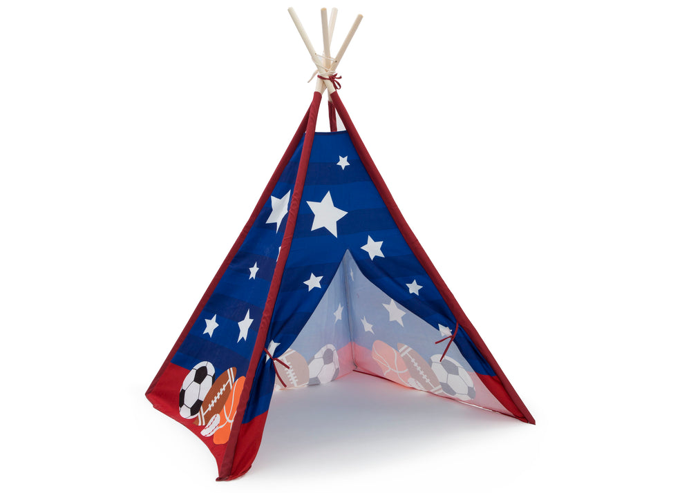 Delta Children All-Star Sports Teepee Play Tent for Kids, Right Silo View