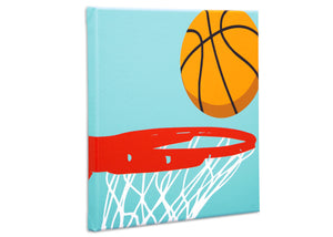 Delta Children Sports (3204) 3-Piece Canvas Wall Art Set for Boys, Basketball Silo View