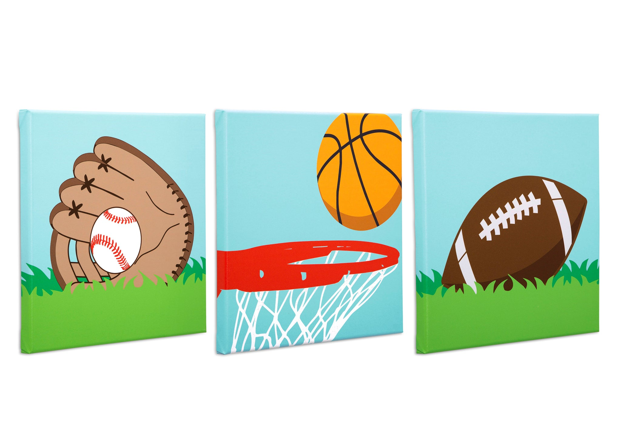 Delta Children Sports (3204) 3-Piece Canvas Wall Art Set for Boys, All Art Silo View 2