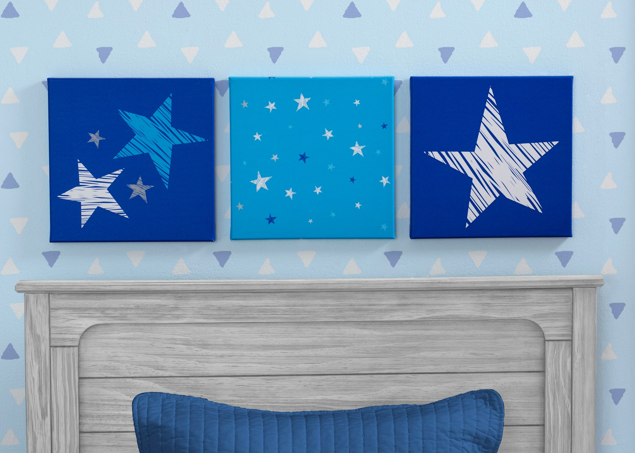 Delta Children Stars (3207) 3-Piece Canvas Wall Art Set for Boys, Hangtag View