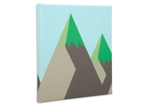 Delta Children Bear (3209) 3-Piece Canvas Wall Art Set for Boys, Mountain Silo View