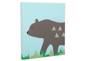 Delta Children Bear (3209) 3-Piece Canvas Wall Art Set for Boys, Bear Silo View