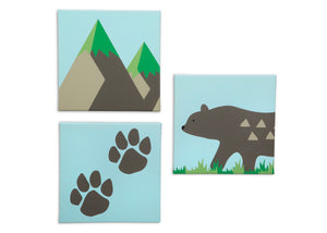 Delta Children Bear (3209) 3-Piece Canvas Wall Art Set for Boys, All Art Silo View