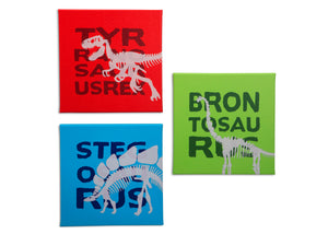 Delta Children Dinosaur (3210) 3-Piece Canvas Wall Art Set for Boys, All Art Silo View