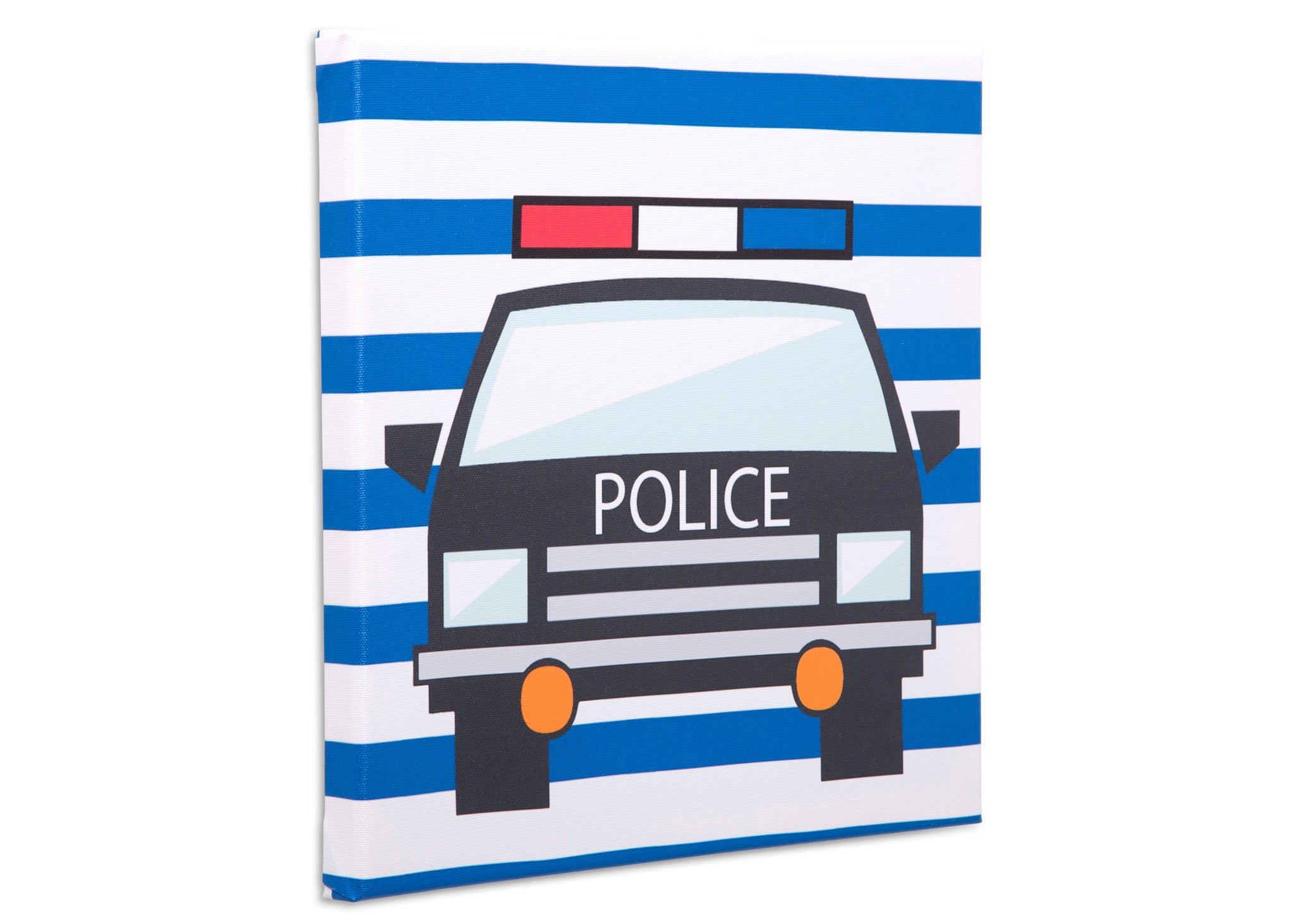 Delta Children Rescue (3211) 3-Piece Canvas Wall Art Set for Boys, Police Car Silo View