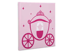 Delta Children Princess (3005) 3-Piece Canvas Wall Art Set for Girls, Carriage Silo View