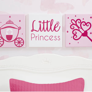 Delta Children Princess (3005) 3-Piece Canvas Wall Art Set for Girls, Hangtag View