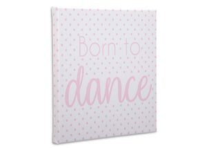Delta Children Ballerina (3007) 3-Piece Canvas Wall Art Set for Girls, Born to Dance Silo View