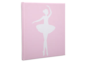 Delta Children Ballerina (3007) 3-Piece Canvas Wall Art Set for Girls, Ballerina Silo View