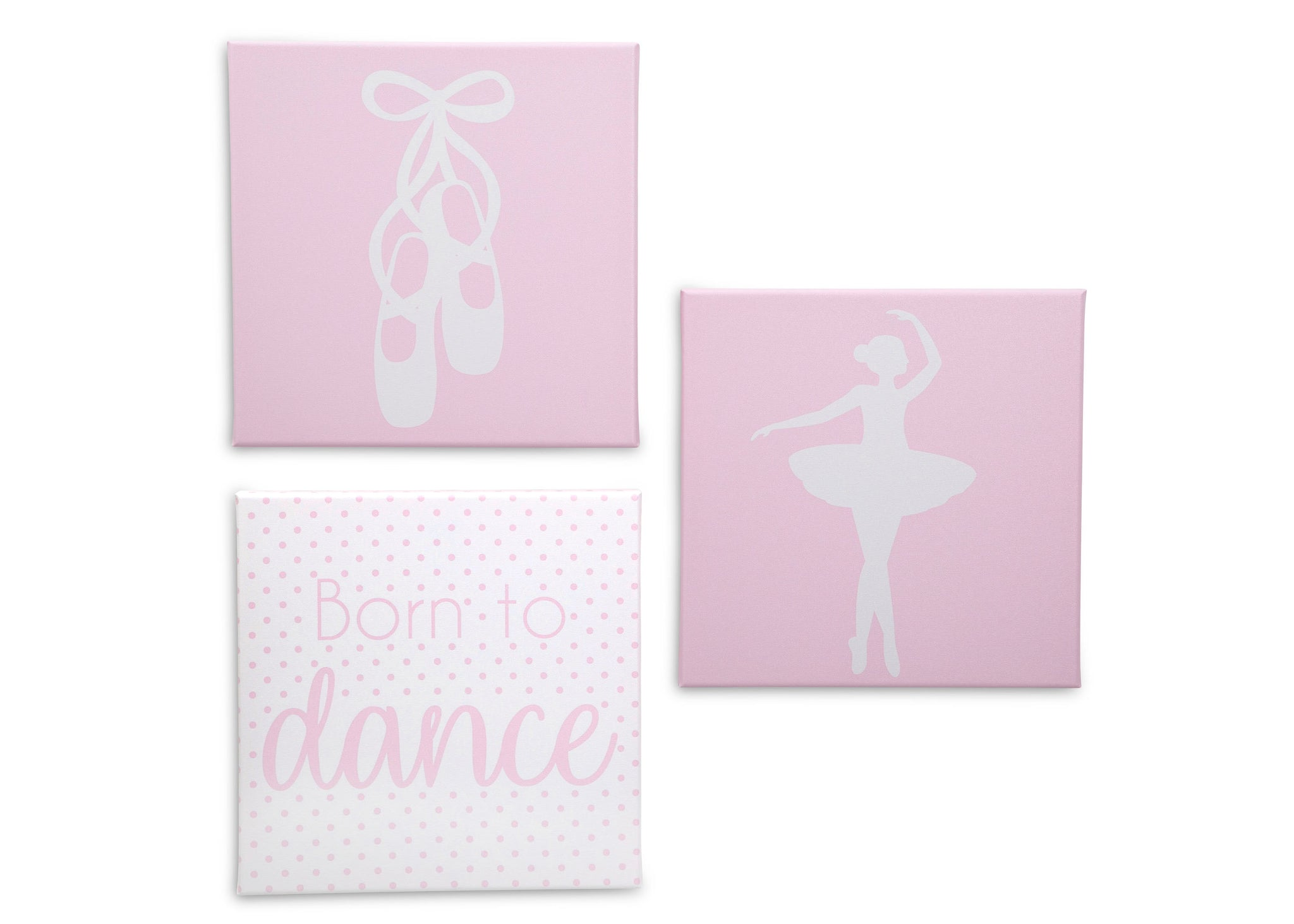 Delta Children Ballerina (3007) 3-Piece Canvas Wall Art Set for Girls, All Art Silo View