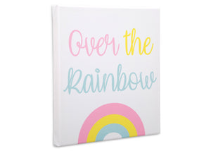 Delta Children Rainbow (3010) 3-Piece Canvas Wall Art Set for Girls, Over the Rainbow Silo View