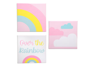 Delta Children Rainbow (3010) 3-Piece Canvas Wall Art Set for Girls, All Art Silo View