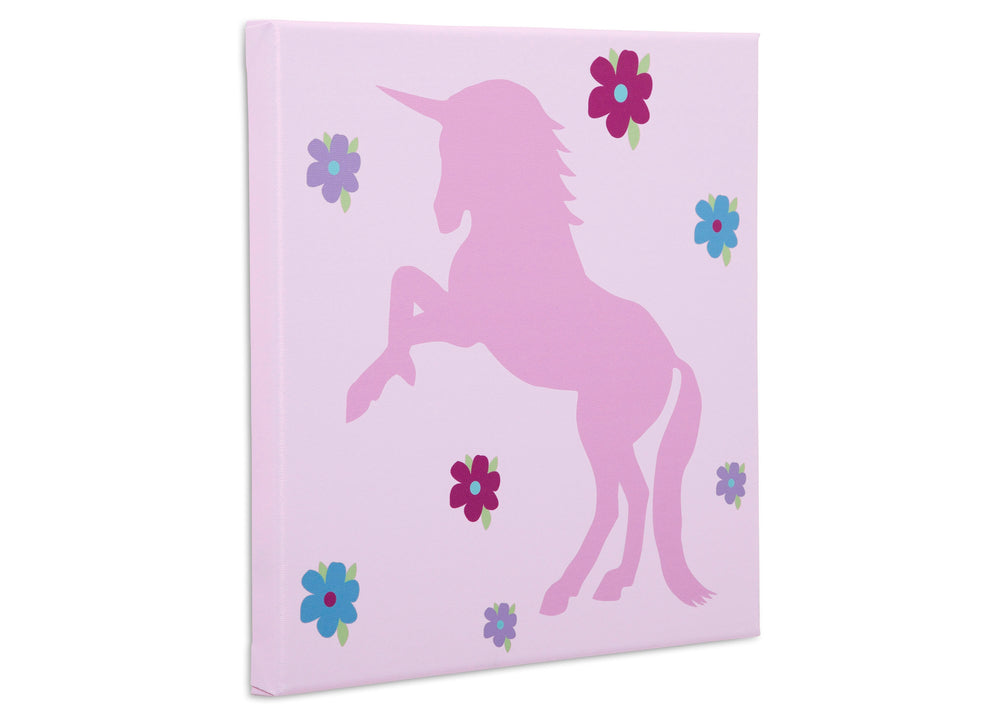 Delta Children Unicorn (3011) 3-Piece Canvas Wall Art Set for Girls, Unicorn Shadow Silo View