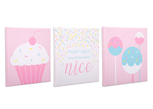 Delta Children Cake Pops (3012) 3-Piece Canvas Wall Art Set for Girls, All Art Silo View 2