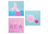 Delta Children Seashell (3013) 3-Piece Canvas Wall Art Set for Girls, All Art Silo View