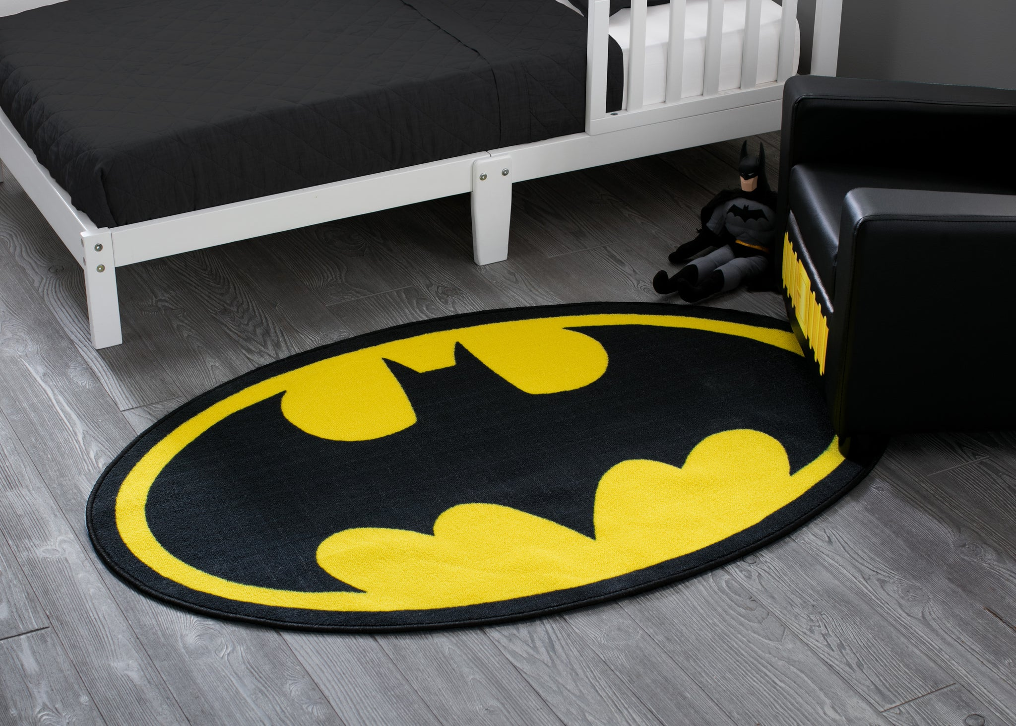 Batman Soft Area Rug with Non-Slip Backing (4 x 2'6)