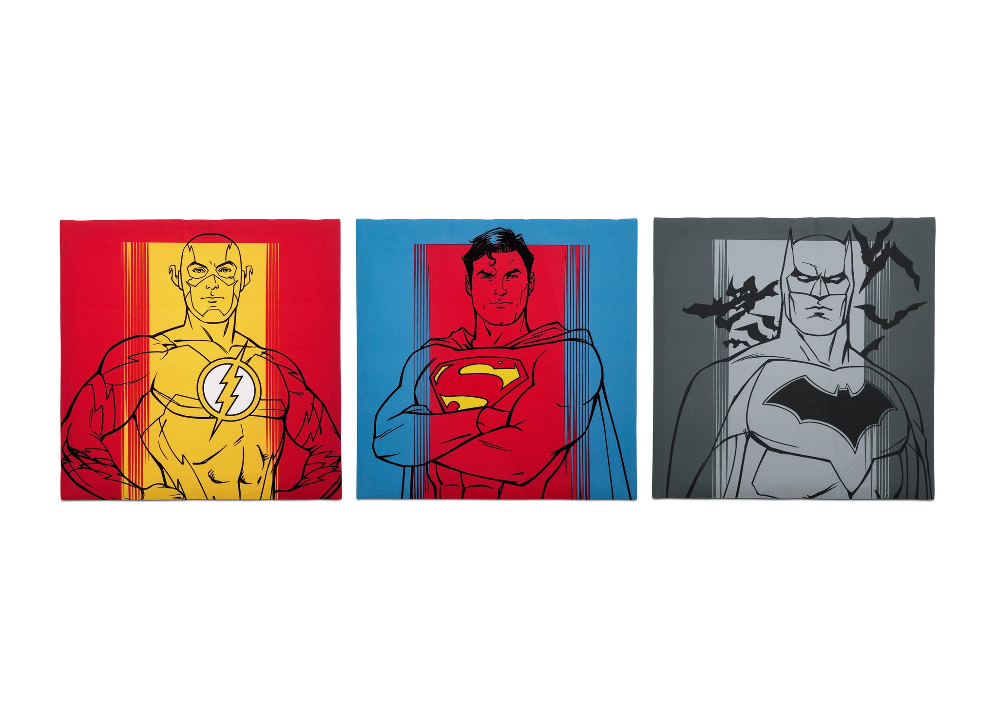 Delta Children Justice League (1215) Canvas Wall Art Set (TR80056JL), Set of three, a2a