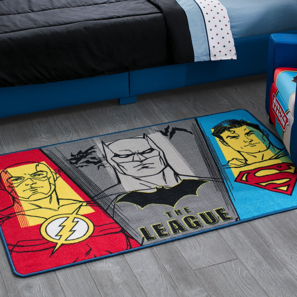 Justice League Soft Area Rug with Non-Slip Backing (4 x 2'6)