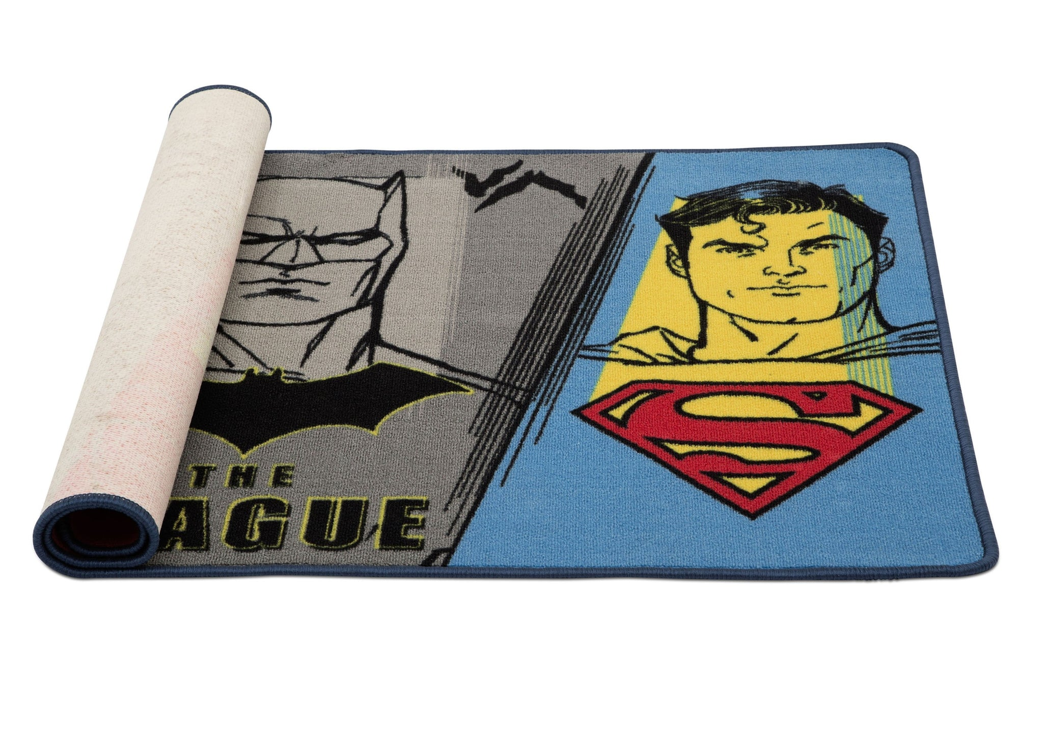 Delta Children Justice League (1215) Soft Area Rug with Non-Slip Backing (TR80057JL), Rolled, a3a