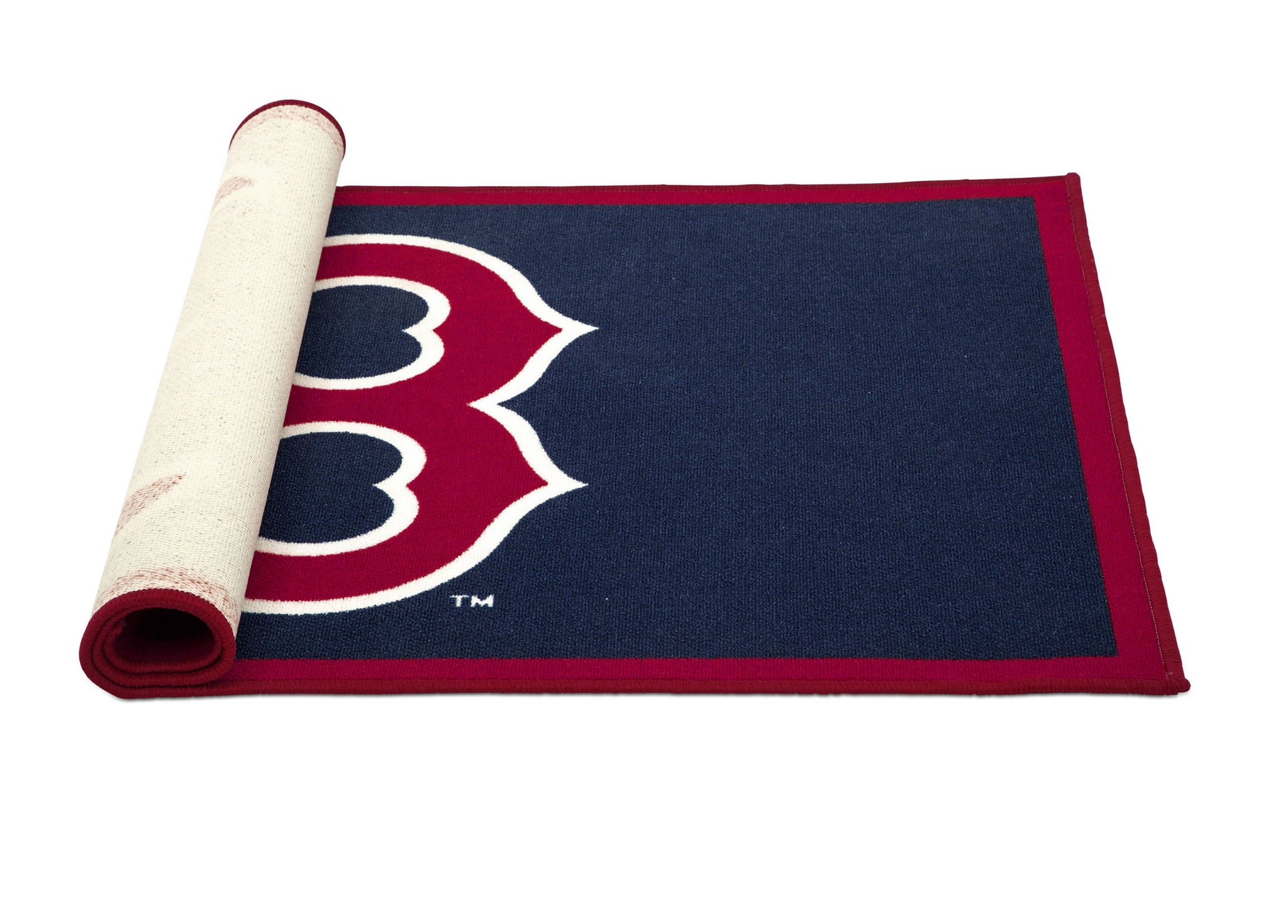 Delta Children Boston Red Sox (1233) Sox Soft Area Rug with Non-Slip Backing (TR9812BOS), Rolled, a3a