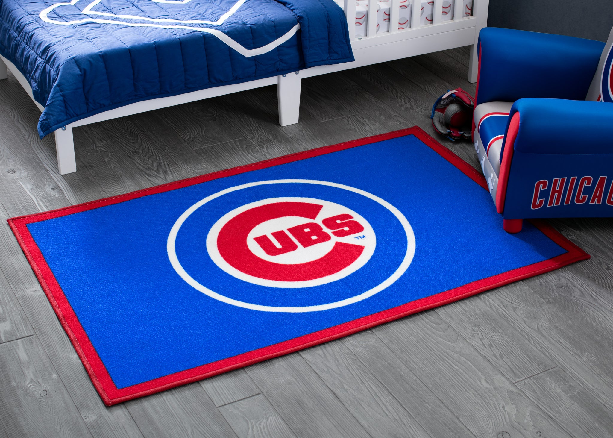 Chicago Cubs Soft Area Rug with Non-Slip Backing (4 x 2'6)