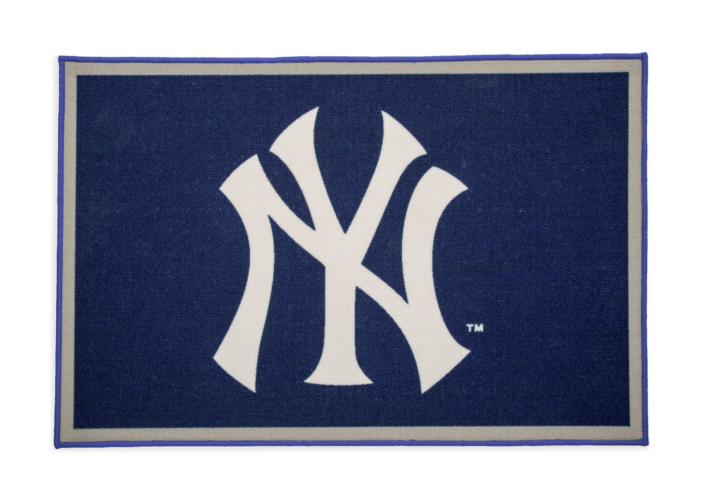New York Yankees Soft Area Rug With Non Slip Backing 4 X 26