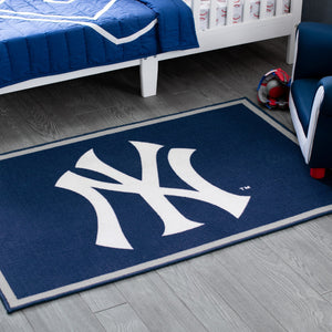 New York Yankees Soft Area Rug with Non-Slip Backing (4' x 2'6)
