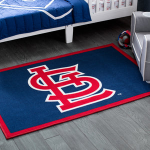St. Louis Cardinals Soft Area Rug with Non-Slip Backing (4' x 2'6)