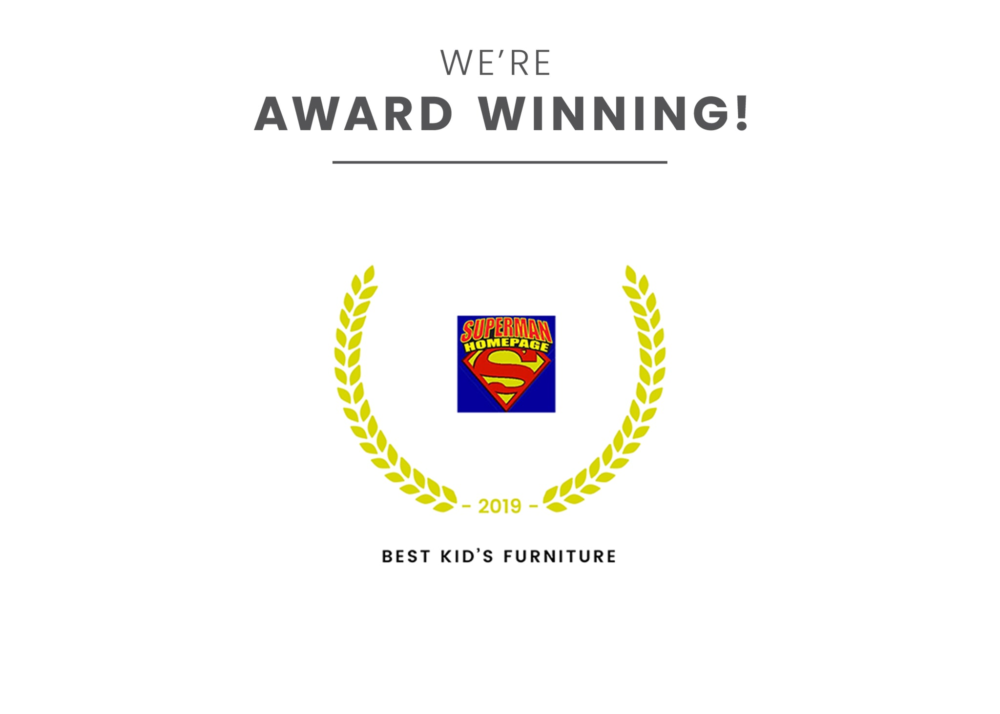 Award badge for Best Kid's Furniture Super Friends (1217)