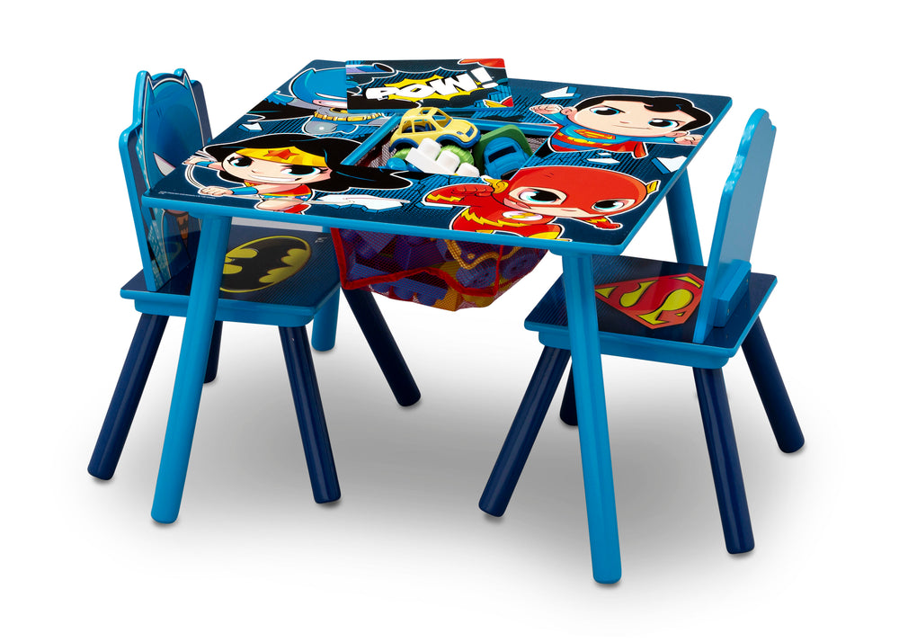 Delta Children Style 1 Super Friends (Batman | Superman | Wonder Woman | The Flash) Kids Chair Set and Table Left View a4a