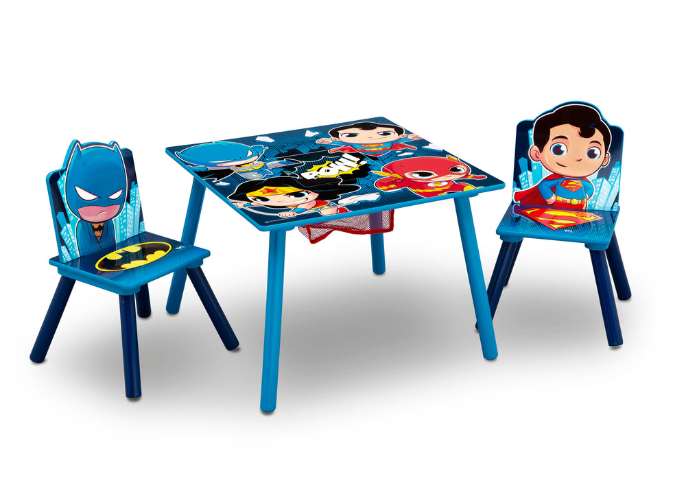 Delta Children Style 1 Super Friends (Batman | Superman | Wonder Woman | The Flash) Kids Chair Set and Table Right View a3a