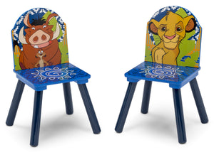 Delta Children The Lion King (1079) Table and Chair Set with Storage, Chairs Silo View