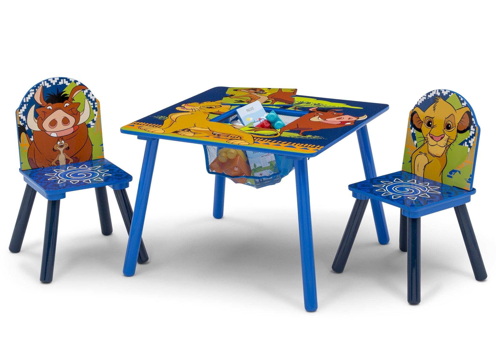Delta Children The Lion King (1079) Table and Chair Set with Storage, Left Silo View