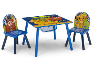 Delta Children The Lion King (1079) Table and Chair Set with Storage, Right Silo View