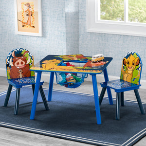 The Lion King Table and Chair Set with Storage