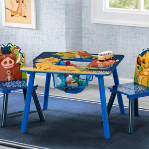 Delta Children The Lion King (1079) Table and Chair Set with Storage, Hangtag View