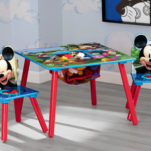 Delta Children Mickey Mouse Kids Table and Chair Set with Storage, Hangtag View