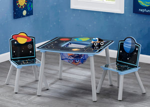 Delta Children Space Adventures (1223) Kids Wood Table and Chair Set with Storage, Hangtag View