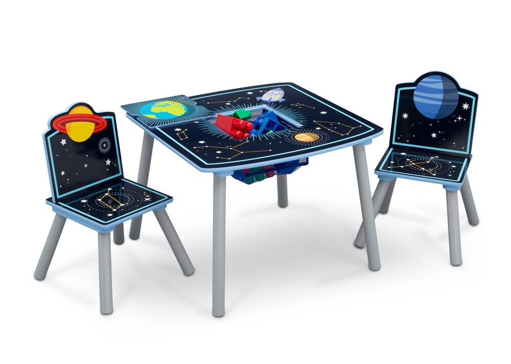 Admirable Space Adventures Kids Wood Table And Chair Set With Storage Best Image Libraries Barepthycampuscom