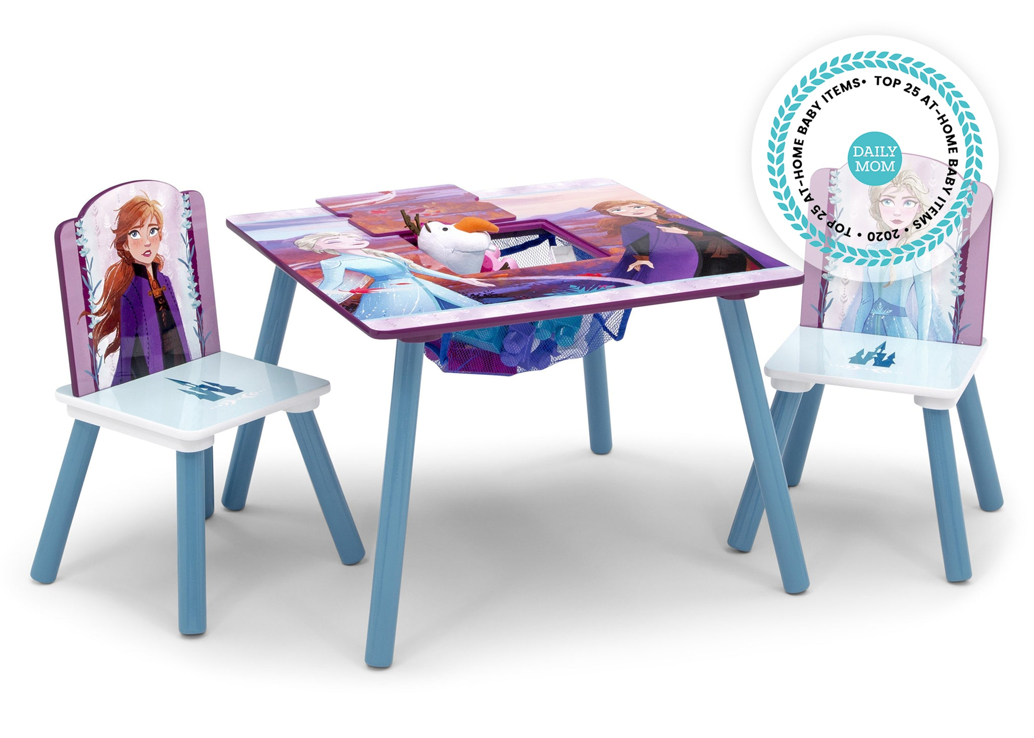 Delta Children Frozen 2 (1097) Table and Chair Set with Storage, Right Silo View