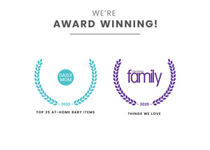 Award badges for Top 25 At-Home Baby Items and Things We Love Delta Children Frozen 2 (1097)