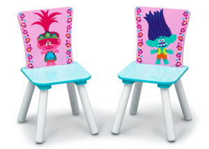 Delta Children Trolls World Tour (1177) Table and Chair Set with Storage, Chairs View