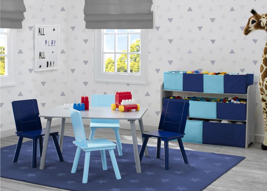 Delta Children TT87414GN-026 Grey/Blue (026) Kids Table and Chair Set, Room View