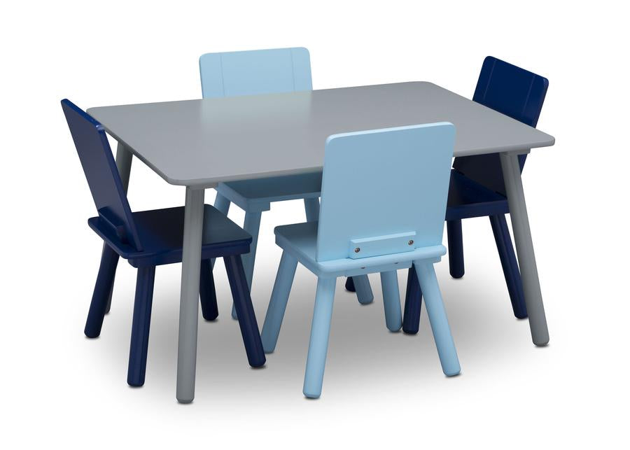 Delta Children  Kids Table and Chair Set, Silo with Chairs In View Grey (026)