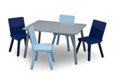 Delta Children TT87414GN-026 Grey/Blue (026) Kids Table and Chair Set, Silo with Chairs Out View