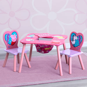 Peppa Pig Table and Chair Set with Storage