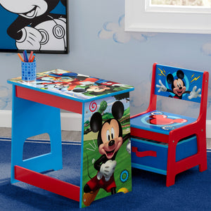 Delta Children Mickey Mouse Kids Wood Desk and Chair Set, Hangtag View Mickey Hot Dog (1054)