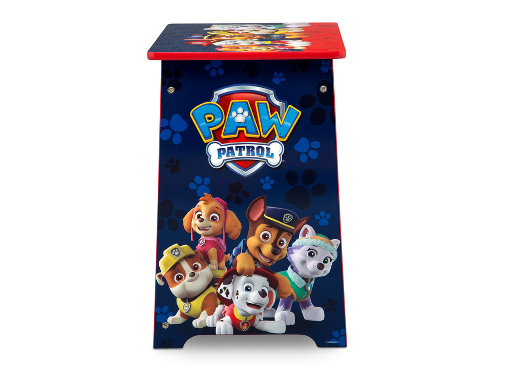 Delta Children PAW Patrol Kids Wood Desk and Chair Set, Logo Side View