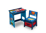 Delta Children Super Friends Kids Wood Desk and Chair Set, Left Silo View